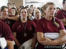 Cuadrilla de Hermanas Costaleras en el año 2011- Estación de Penitencia suspendida