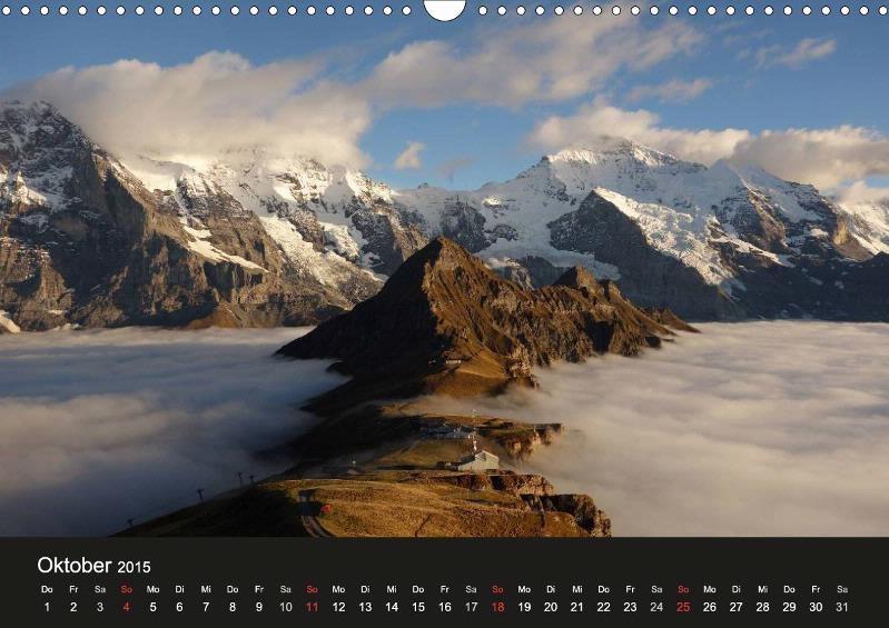 Männlichen Gipfel (2'343 m ü M.) - Blick auf Eiger, Mönch (Tschuggen), Jungfrau, Berner Oberland
