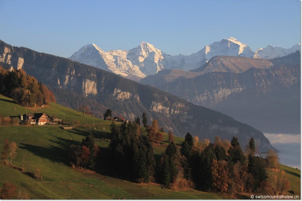 ...Blick zu Eiger, Mönch und Jungfrau