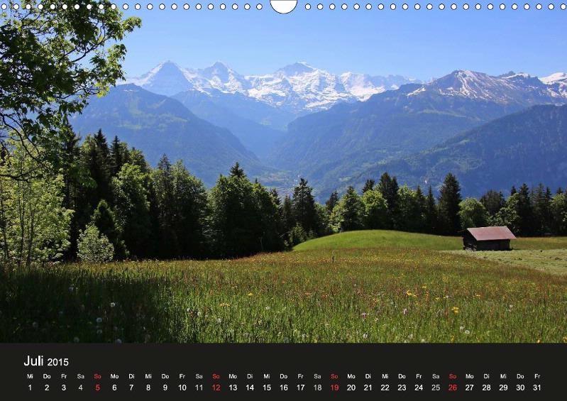 Beatenberg - Waldegg, Blick Richtung Eiger, Mönch und Jungfrau, Berner Oberland