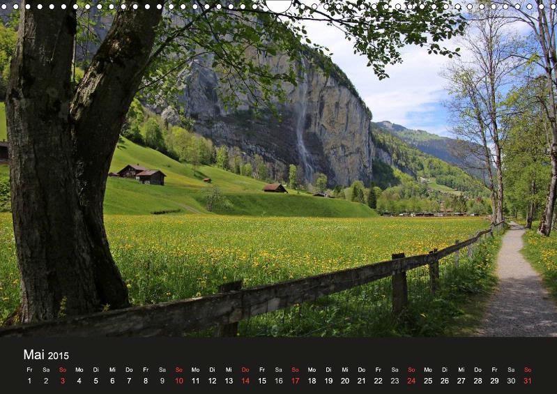 Lauterbrunnen, Blick auf Staubbachfall, Berner Oberland