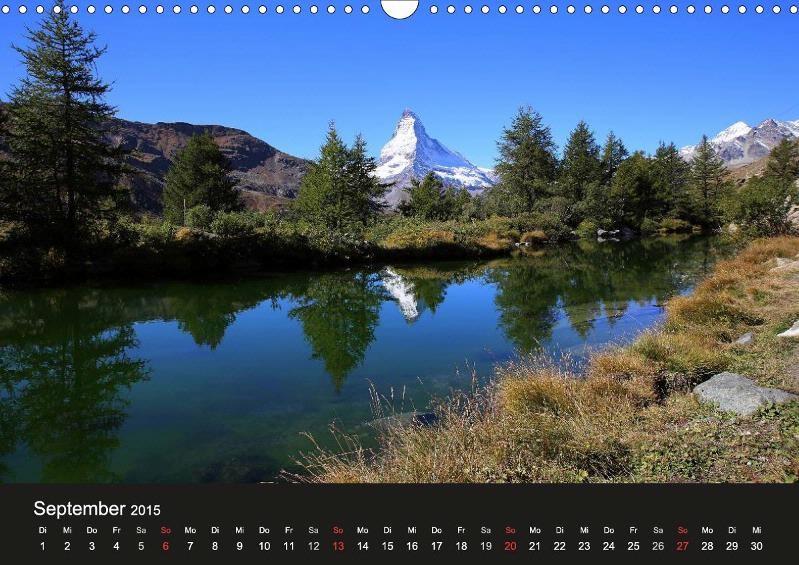 Grindjisee, Zermatt, Blick aufs Matterhorn, Wallis