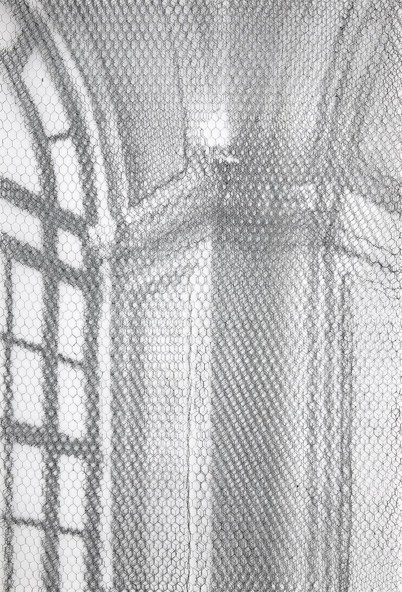 Barberini det. 8630_2019, 125x85cm, dieci fogli di rete metallica intagliati a mano