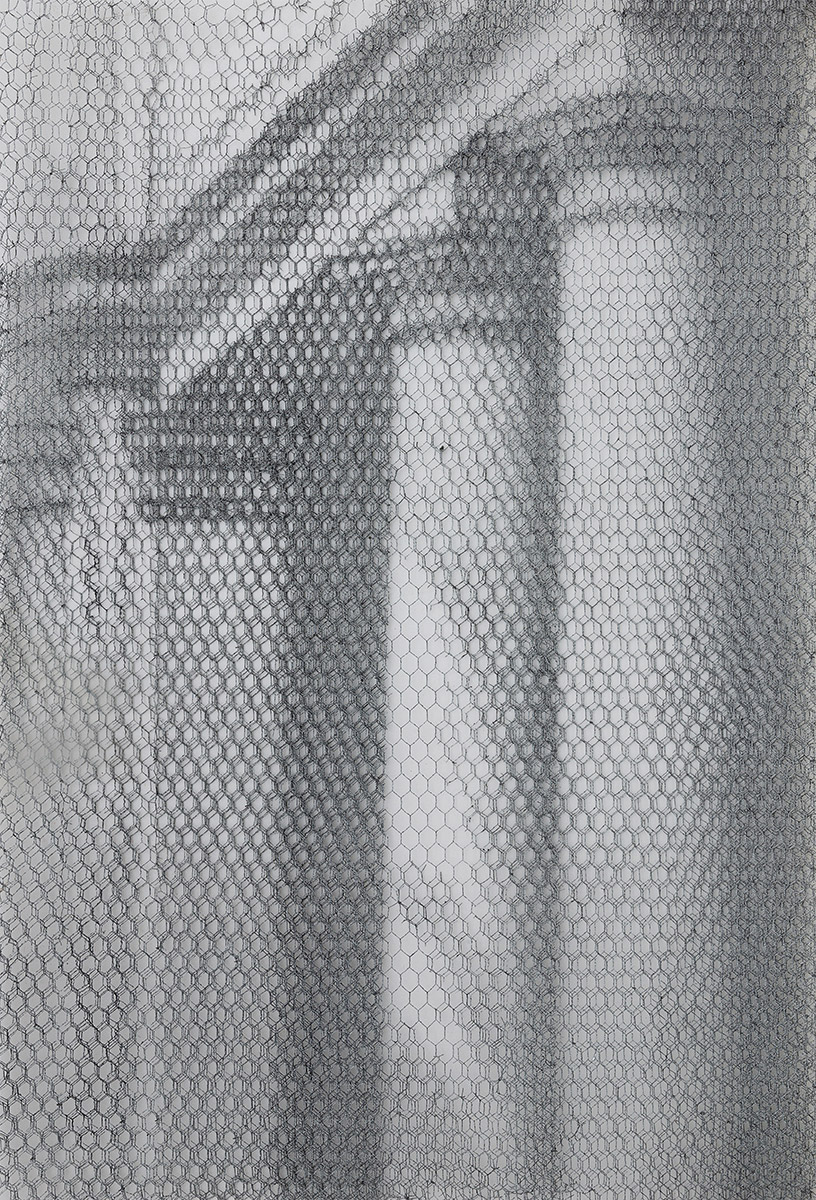 Barberini det. 8617_2019, 125x85cm, dieci fogli di rete metallica intagliati a mano