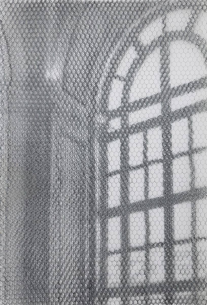 Barberini det. 8627_2019, 125x85cm, dieci fogli di rete metallica intagliati a mano