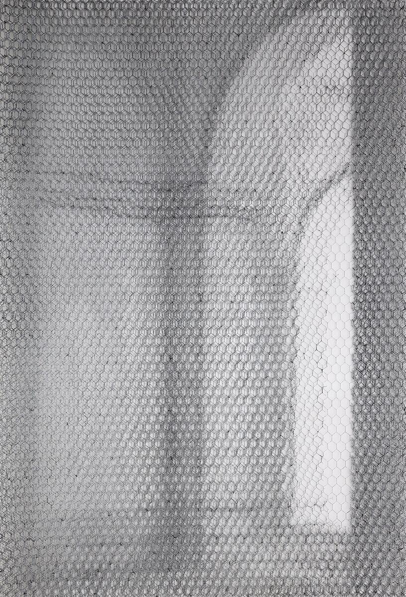 Barberini det. 8740_2019, 125x85cm, dieci fogli di rete metallica intagliati a mano