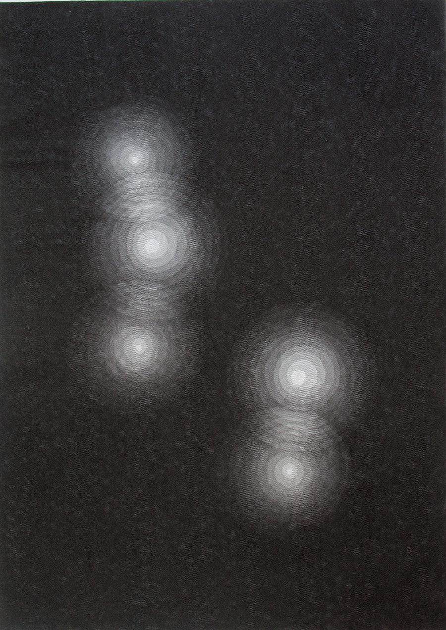 LYRA - 2014 - cm. 82 x 58 - 12 strati di tulle nero incisi a mano