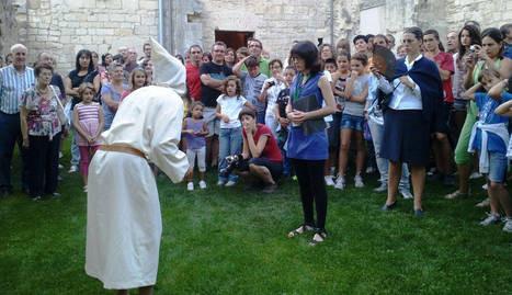 Visita teatralizada al monasterio de Iranzu. (Foto: Cedida a Diario de Navarra)