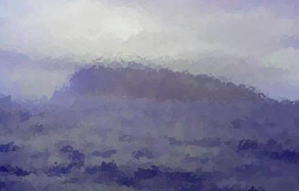 """""""Soudain au milieu d'un rideau de pluie surgit Podesta""""... Très convaincante, cette photo !"""