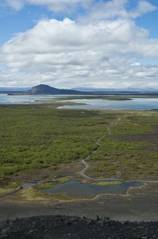 Vue sur le lac Myvatn depuis le cratère Hverfjall