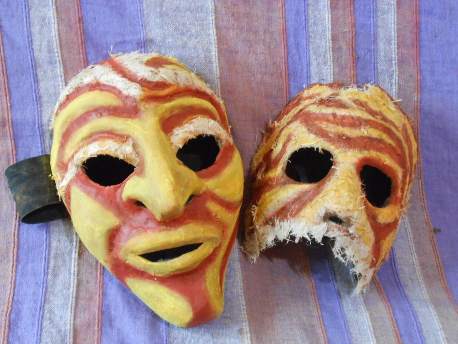 Masques - Moules en argile Nina Franco - Peinture Daniel Blander