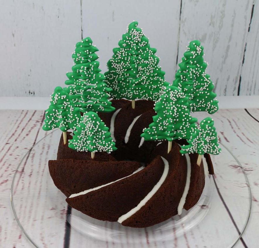 Winter Wald Kuchen