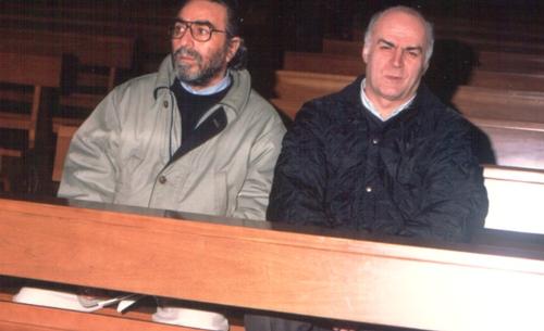 Felice e Bruno Passuello primo speaker di Radio Carpine