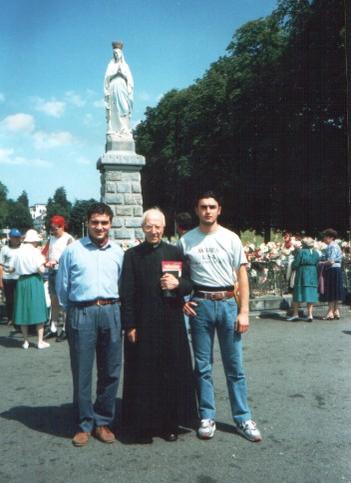 Angelo, P Arturo e Antonio a Lourdes