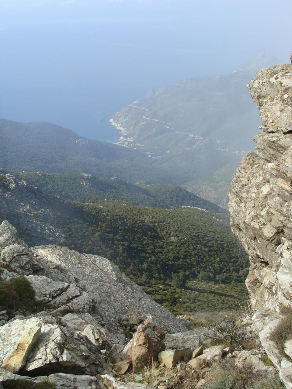 Vue sur Canari, Sentier des Crêtes, Cap Corse