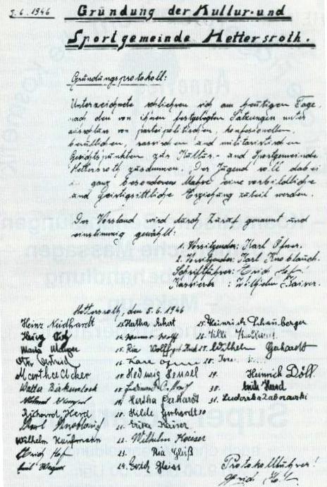 Gründungsprotokoll von 1946