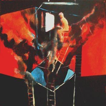 Pintor incendiando su estudio, 60x60cm.2008