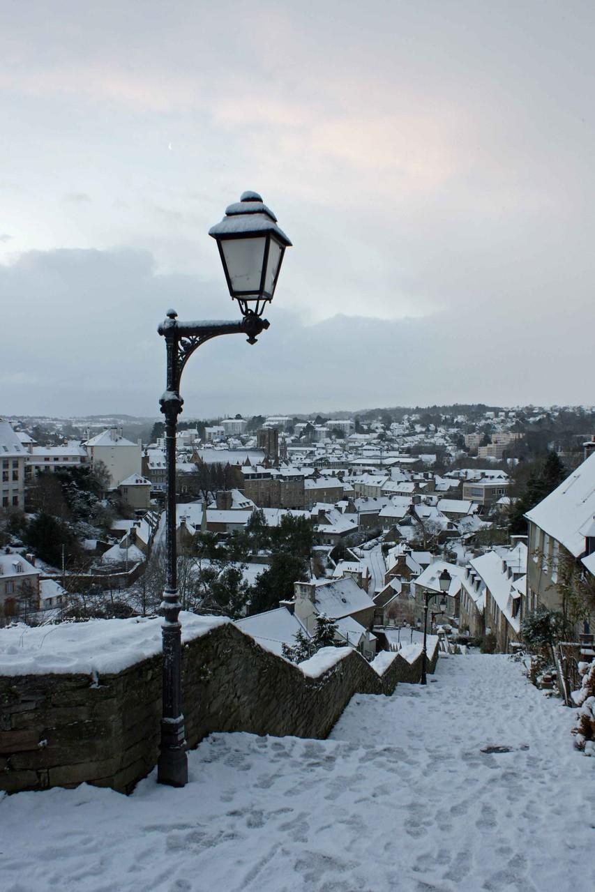 Lannion sous la neige
