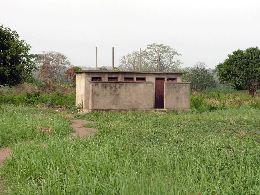 les latrines que nous avons fait construire