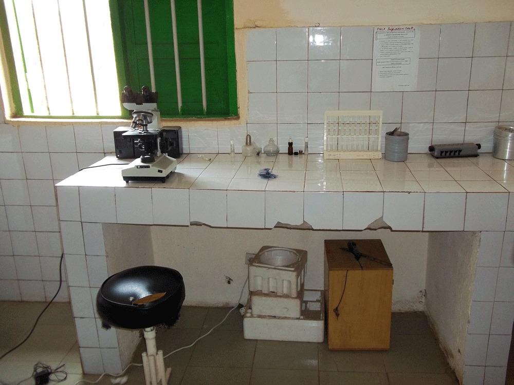 le dispensaire de Hahomegbé est le seul à bénéficier d'un laboratoire