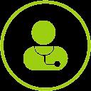 Icone de médecin ou docteur