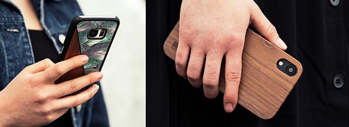 Handyhüllen aus Holz von WOLA