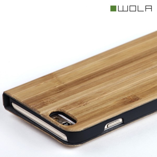 FORREST iPhone 6s Flip Hülle Bambus Holz