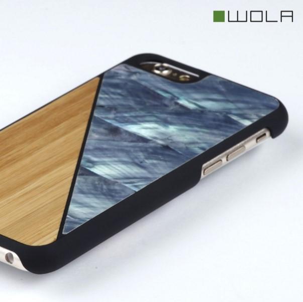 AQUA iPhone 6s Hülle Bambus Holz Perlmutt