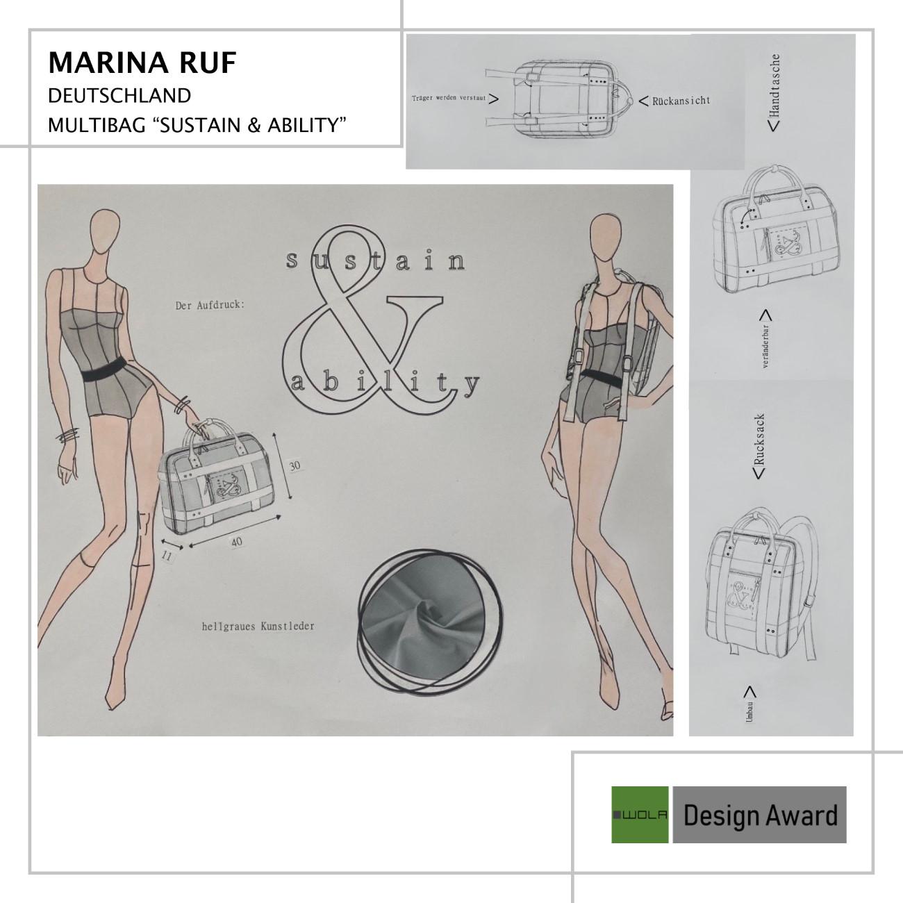 Beitrag WOLA Design Award -Marina Ruf