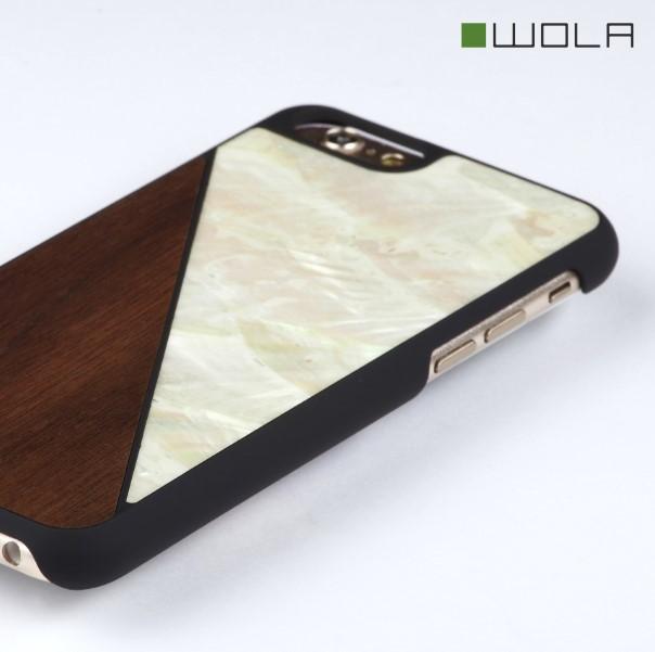 AQUA iPhone 6s Hülle Nuss Holz Perlmutt