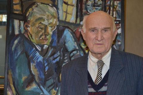 Eine Hommage an den Lehrer: Albert Reck malte Alfred Mahlau, bei dem er studierte