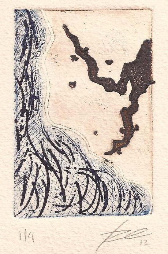 the tea_ intaglio _ 8,5 x 5,5 cm _ 2012