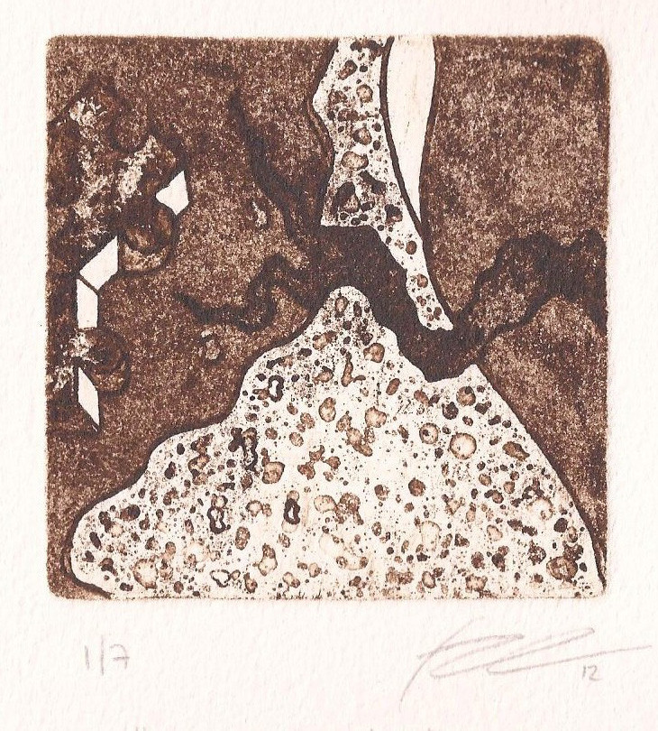 The flower and the tea_ intaglio _ 7,5 x 7,5 cm_2012