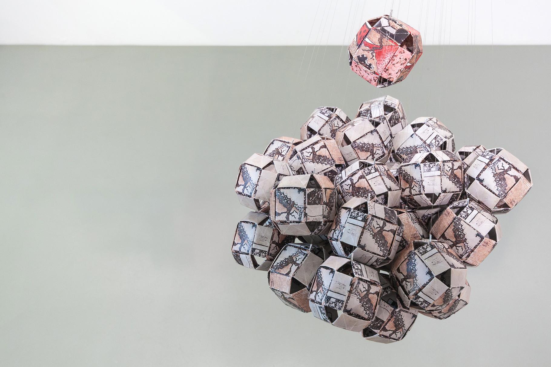 Origami balls instation _ 2014
