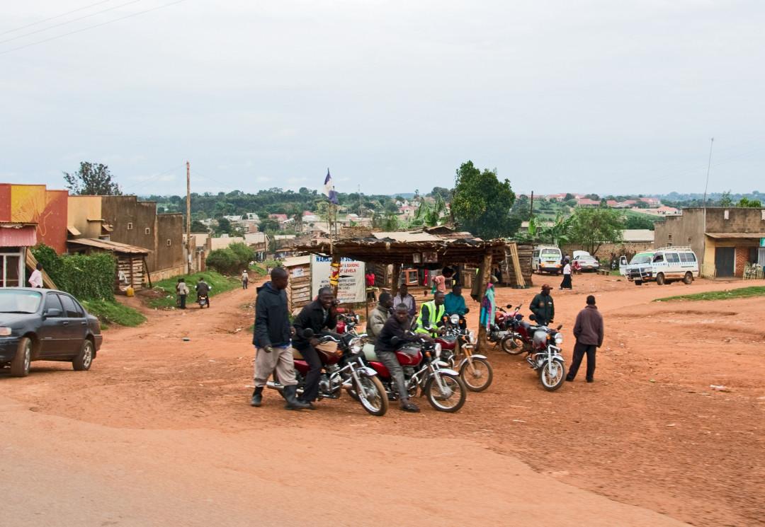 Standplatz für Motorrad-Taxis
