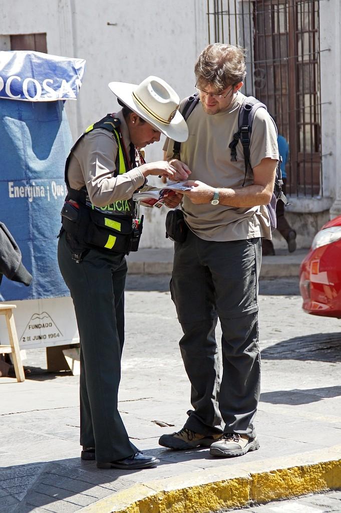 eine hilfsbereite Polizei