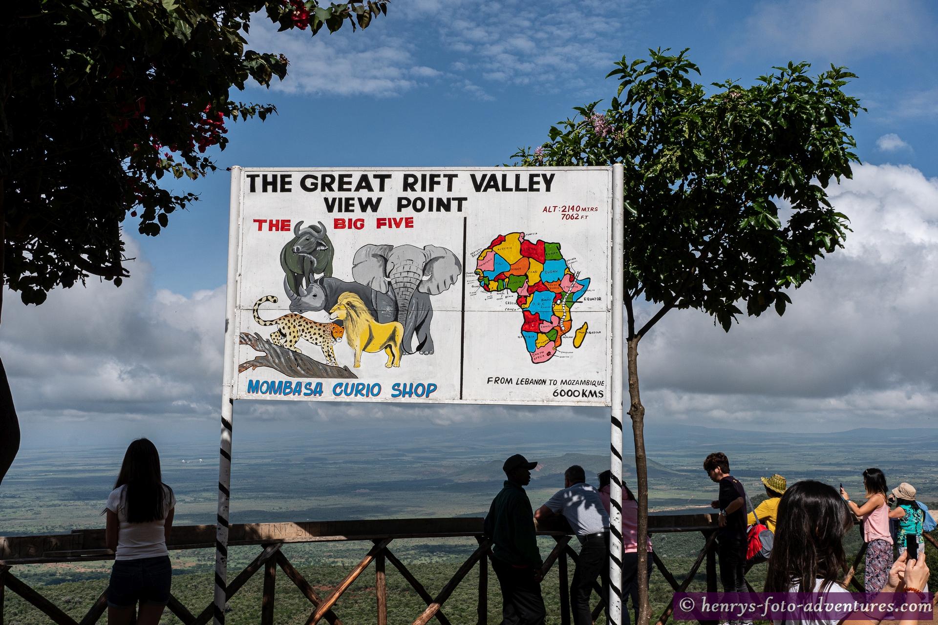Aussichtspunkt auf das Great Rift Valley