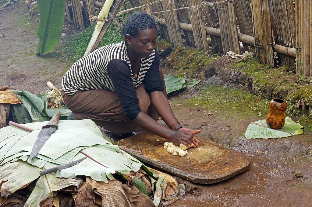 Brot backen aus Bananenferment