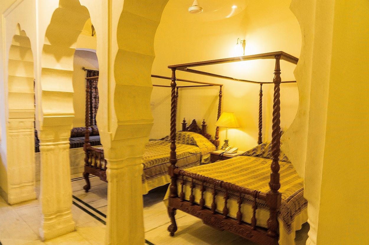 """Mandawa, """"Mandawa Castle"""", hier sind wir wirklich königlich untergebracht"""