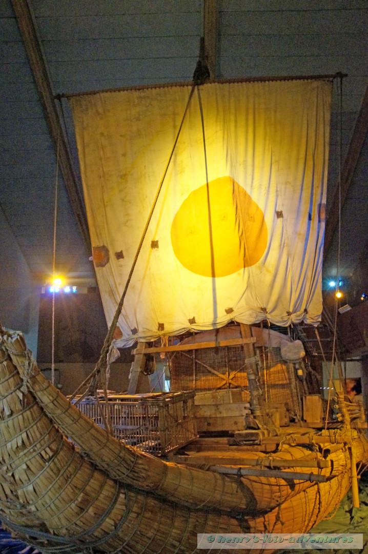 die Kontiki, Binsenschiff des Thor Heyerdahl