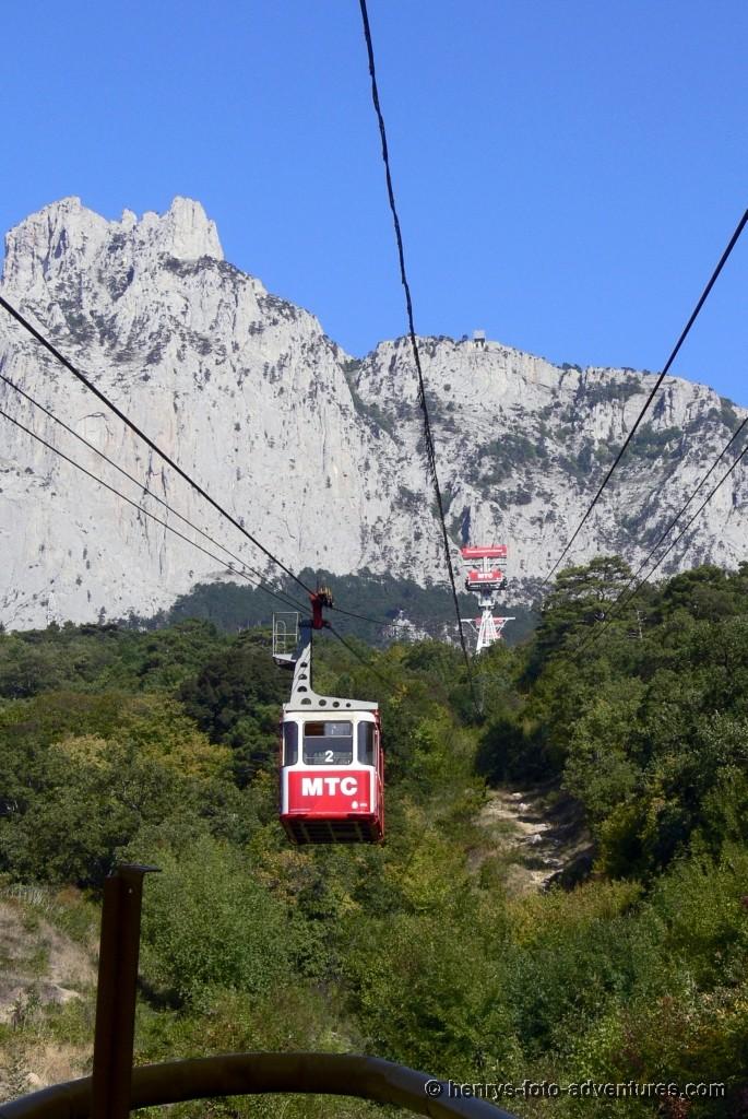 Auffahrt auf den Berg Peris