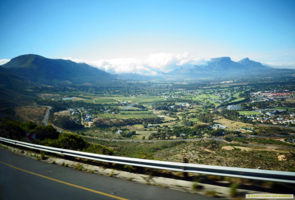 zurück nach Kapstadt, Blick auf den Tafelberg
