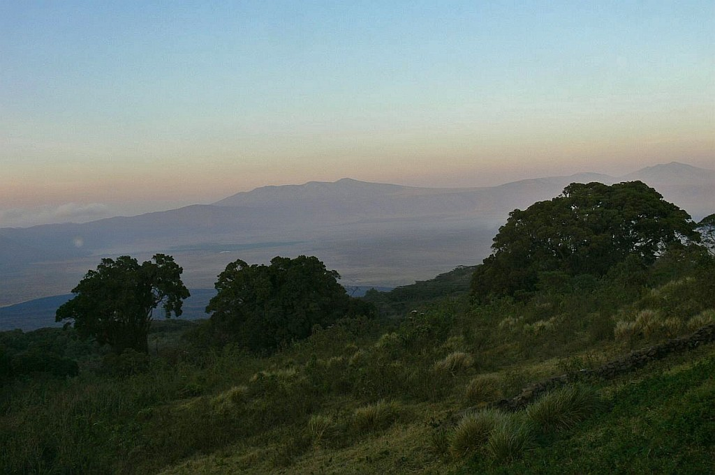 Morgenstimmung am Kraterrand