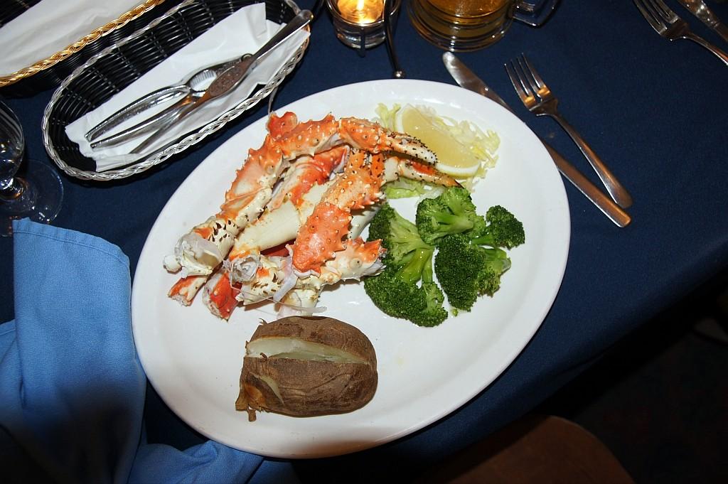 ein leckeres Abendessen, Greifarme von Riesenkrabben