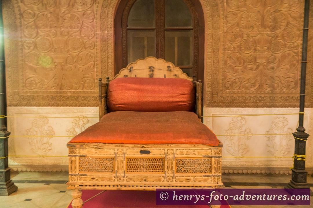 Bett der Maharani