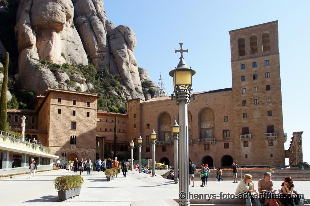 der Vorplatz zum Kloster