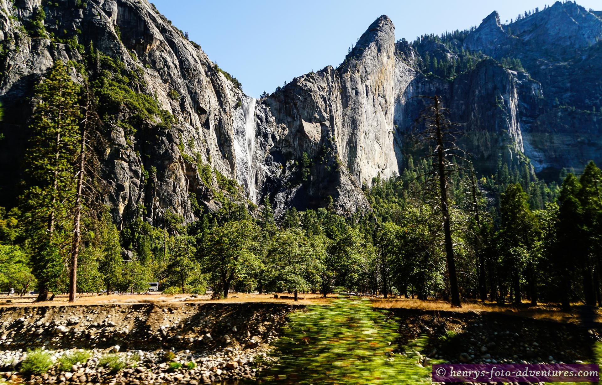 um diese Jahreszeit führen die Wasserfälle wenig Wasser