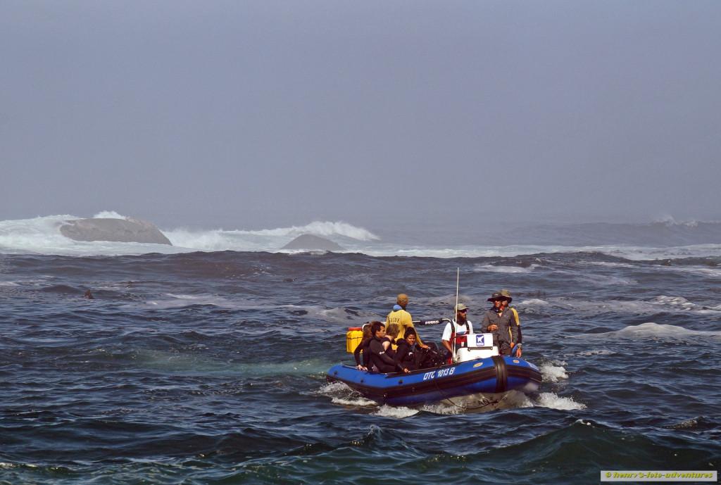 eine riskante Bootsfahrt