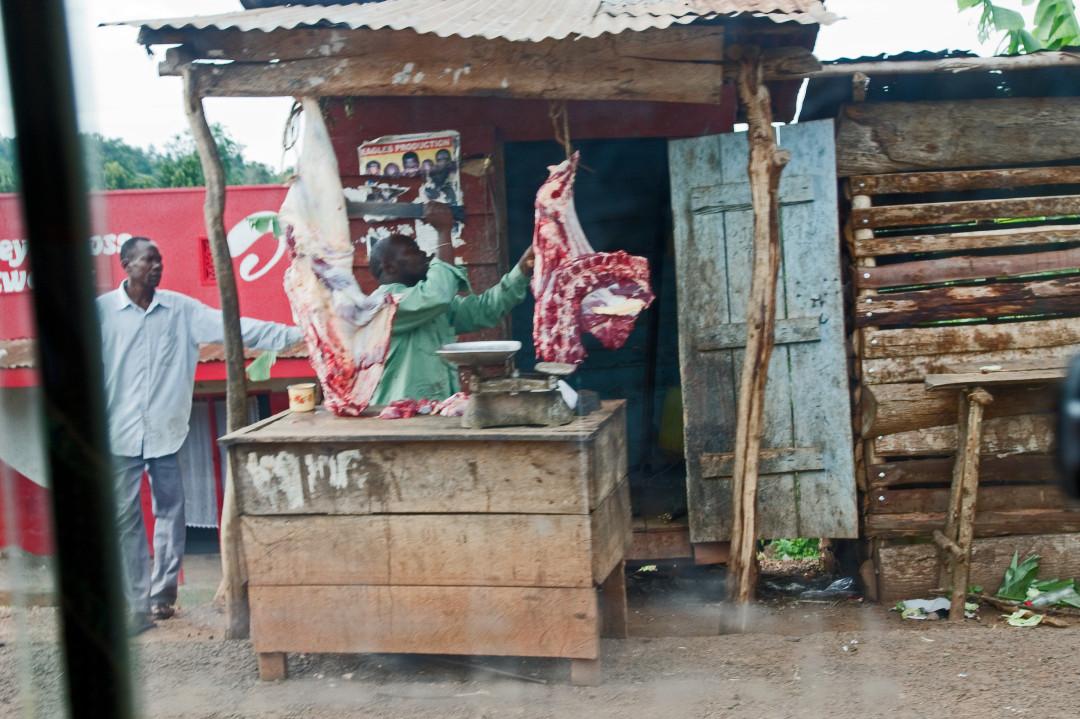 ein Fleischerladen (ohne Kühlschrank)