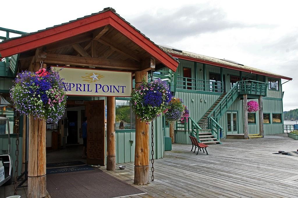 Ankunft im April Point Hotel auf Quadra Island